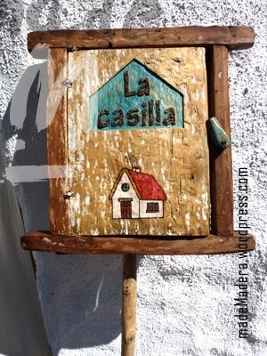 """Letrero rústico postigo """"La casilla"""""""