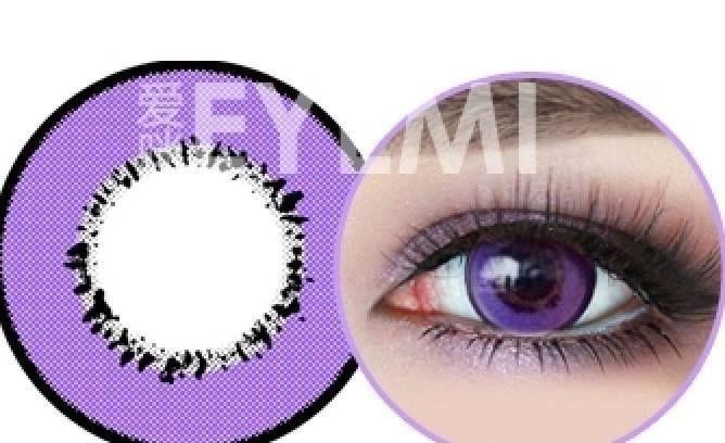 Lentilles de couleur - violet - contact lenses coloured - lens colored #eyemi
