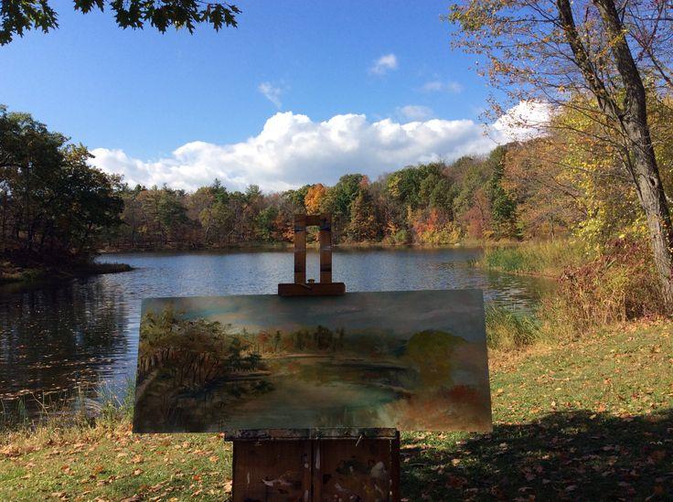 The lake@olana #art #paint #hudson #artist