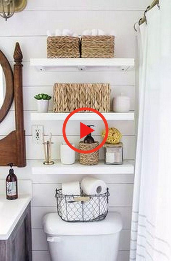 83 Most Popular Decorating Bathroom Shelves Ideas 53 Bathroomshelves Bathroomshelf Shelves In 2020 Bathroom Storage Solutions Small Bathroom Small Space Bathroom