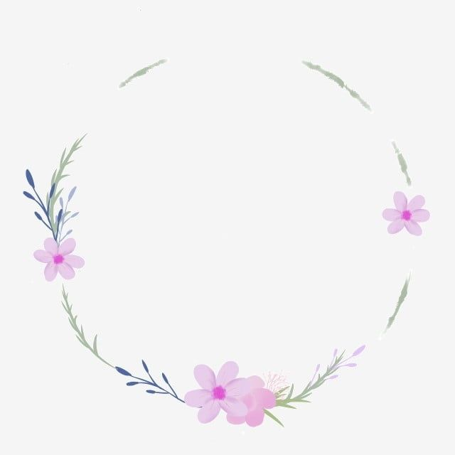 Elegant Purple Flower Wreath Frame Small Fresh Mori Flowers Mosaics Png Transparent Clipart Image And Psd File For Free Download Purple Flowers Blue Flower Wreath Flower Reef