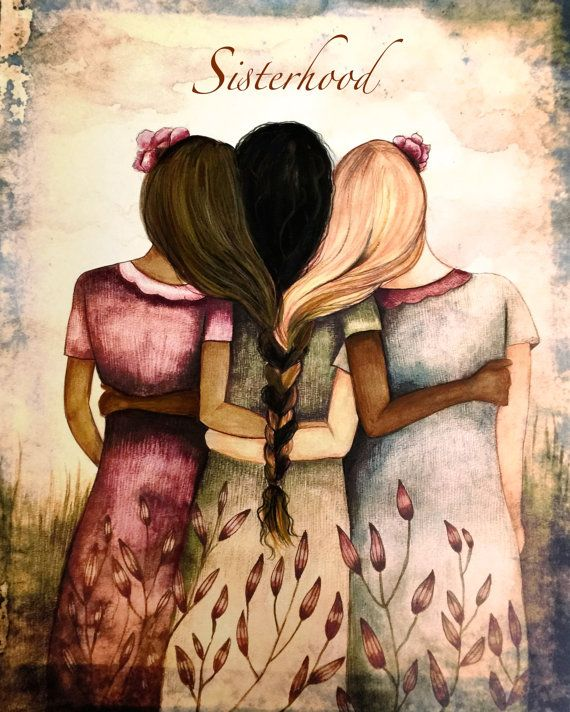 Sisterhood art print by claudiatremblay on Etsy