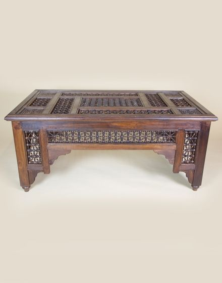 Love this Moroccan Wooden Coffee Table!!