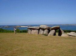 Dolmen de l'île Miliau, Trébeurden. Cotes d'Armor. Brittany