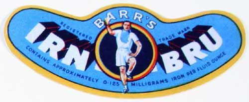 1947-Irn Bru Label. Name changed from Iron Brew in 1946