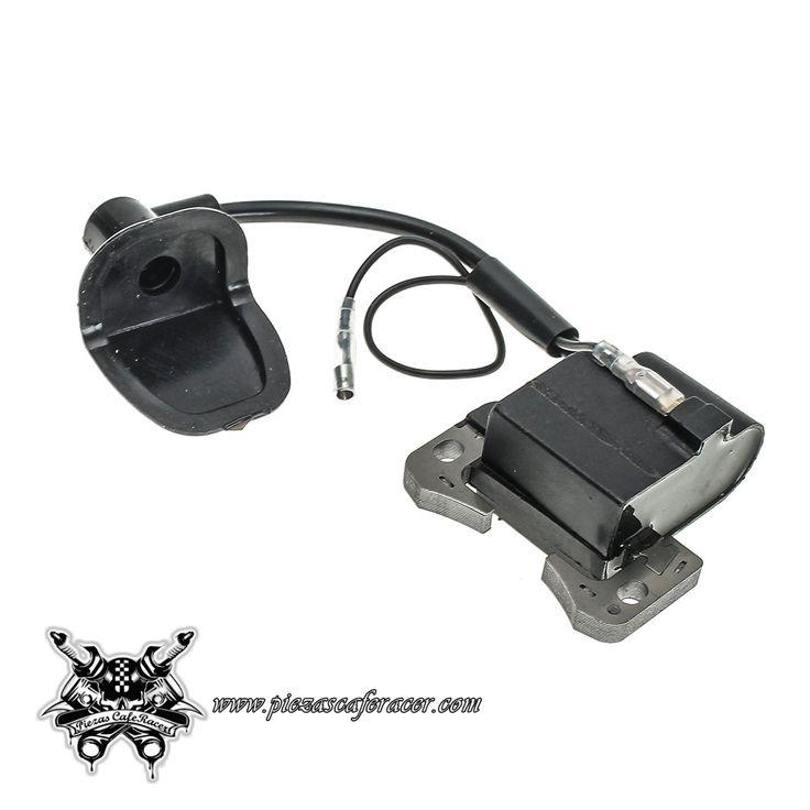 6,75€ - ENVÍO GRATIS - Bobina de Encendido con Cable y Pipa de Bujía para Minimoto Color Negro