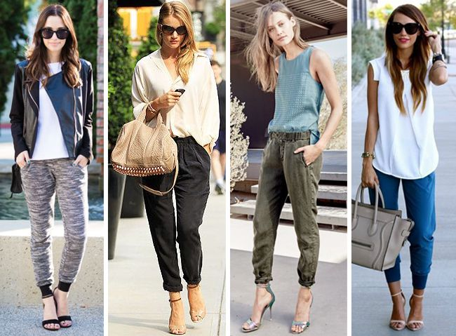 See 5 tips for how to wear jogger pants on The Key To Chic