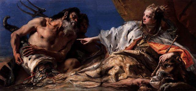 Ο Ποσειδώνας προσφέρει δώρα στη Βενετία. (1740)