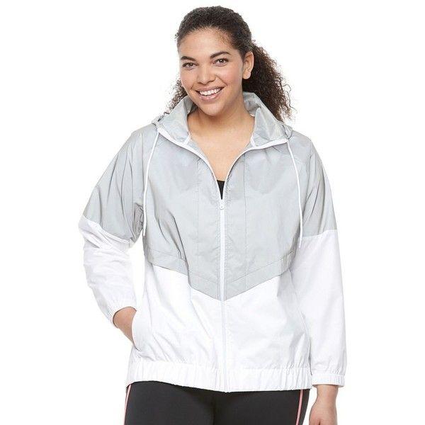 Plus Size FILA Sport® Chevron Windbreaker Jacket ($39) ❤ liked on Polyvore featuring plus size women's fashion, plus size clothing, plus size activewear, plus size activewear jackets, plus size, white, fila sportswear, womens plus size activewear, plus size sportswear and fila