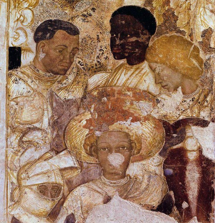 Pisanello, Tournament Scene (detail), 1440s, Fresco, Palazzo Ducale, Mantua