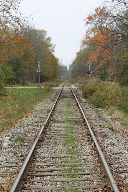 train tracks via The Ole Barn