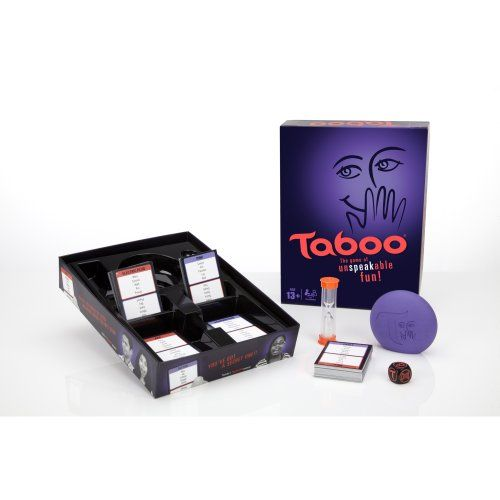 Taboo is a wonderful family game to develop language and reasoning skills but adults may want to make adjustments to the rules depending on the players. Players begin by dividing into teams that take turns judging or playing. One person use words and phrases to have teammates guess the keyword on th