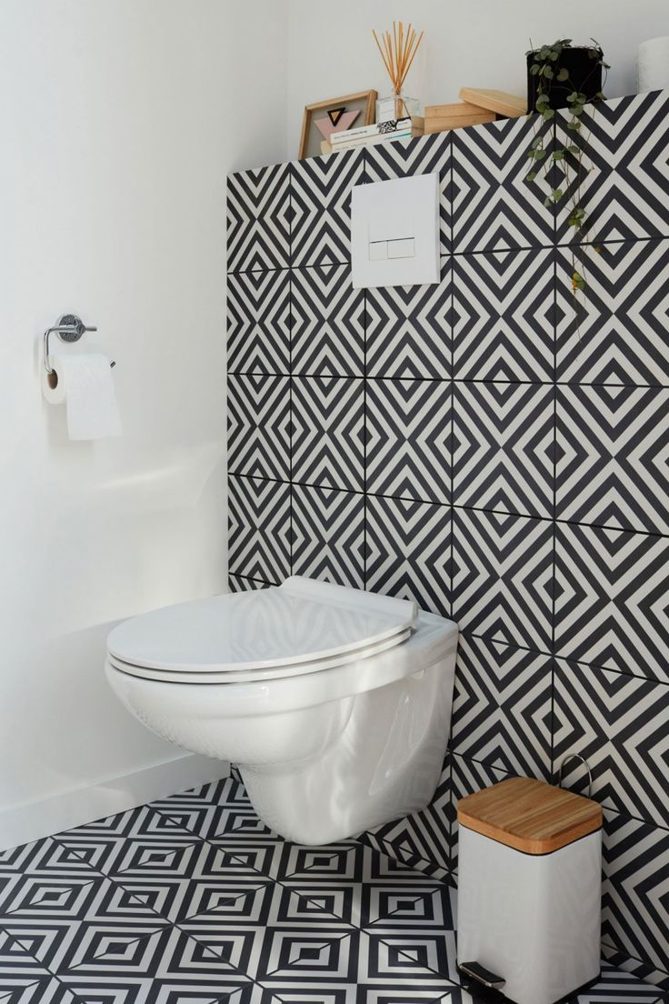 Des Wc Tout En Carreaux De Ciment Bathroom Shower Design