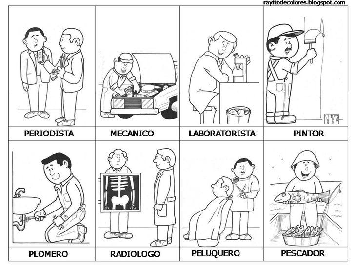 Profesiones y oficios colorear | ACtIviDades y Fichas para ...