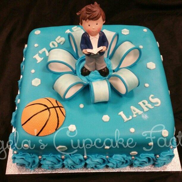 Holy Communion cake for Lars. He loves basketbal! Communie taart voor Lars. Zijn favoriete sport is basketbal
