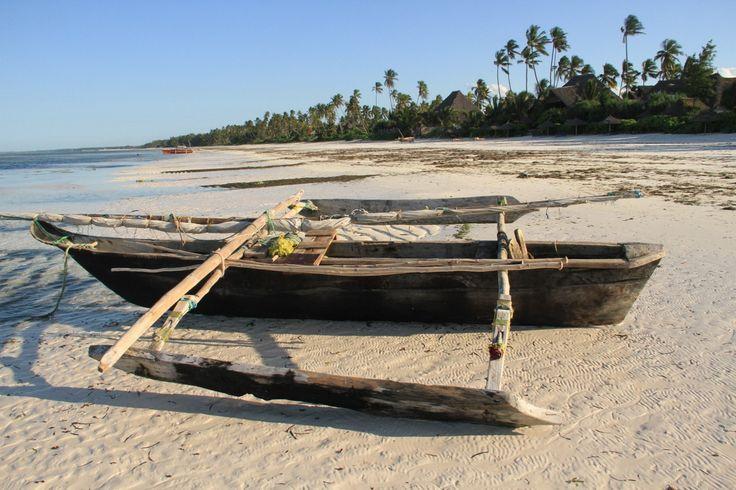 Outrigger on Matemwe Beach.