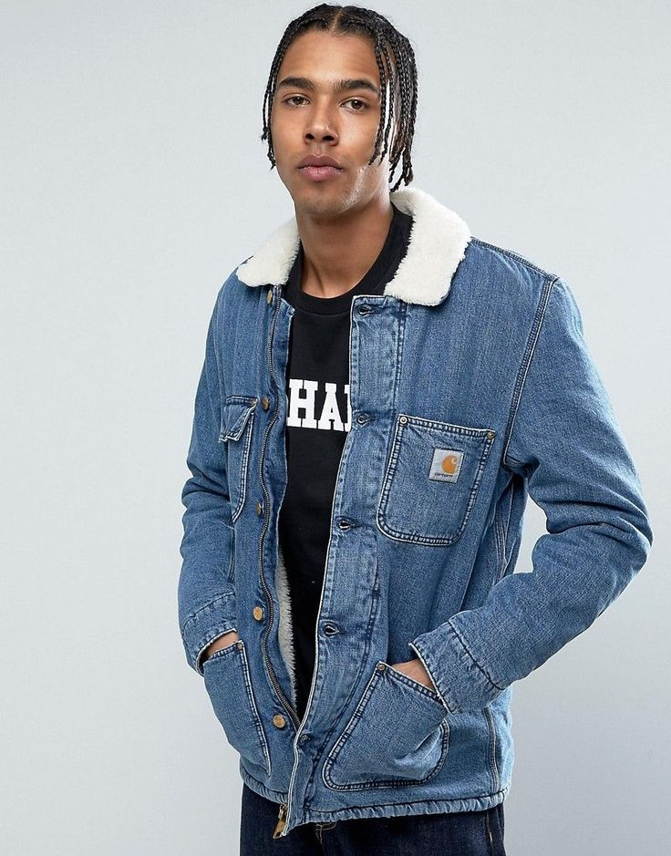 Get this Carhartt WIP's denim jacket now! Click for more details. Worldwide shipping. Carhartt WIP Denim Phoenix Jacket With Faux Shearling Collar - Blue: Denim jacket by Carhartt WIP, Midweight denim, Blue-wash finish, Faux-shearling collar, Button placket, Carhartt WIP logo to chest, Functional pockets, Regular fit - true to size, Machine wash, 100% Cotton, Our model wears a size Medium and is 188cm/6'2 tall. More than a century after Hamilton Carhartt established his Detroit business…
