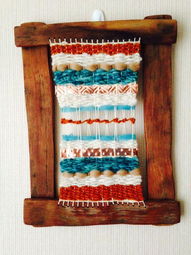 Telar decorativo  Trilogía  #telar #lana #wool #weaving