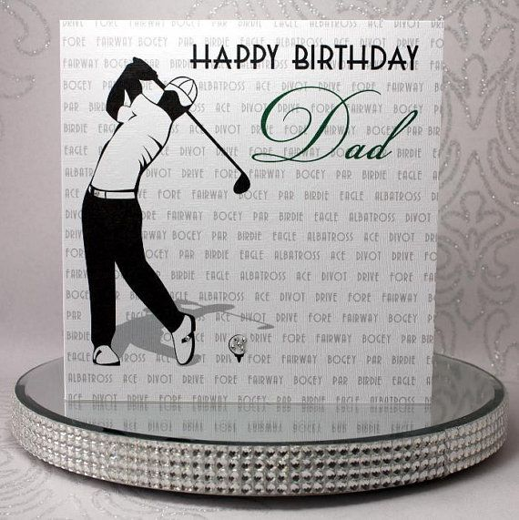 Luxury Handmade Personalised Birthday Card Golfer With Etsy Birthday Cards Birthday Cards For Men Luxury Birthday Cards