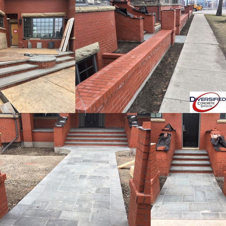 We poured all the footings, grade beams, sidewalks, stairs, and pads for the brick to be mortared to. #diversifiedconcreteservices #yyc #footings #gradebeams #stairs #concrete #rosedale