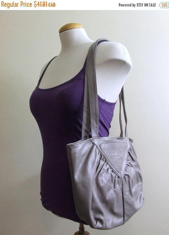 50% CLEARANCE Grey Leather Purse  Brixton Vancouver Canada