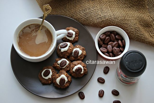 Biskut Ombak Rindu / Coffee Chocolate Rice Cookies