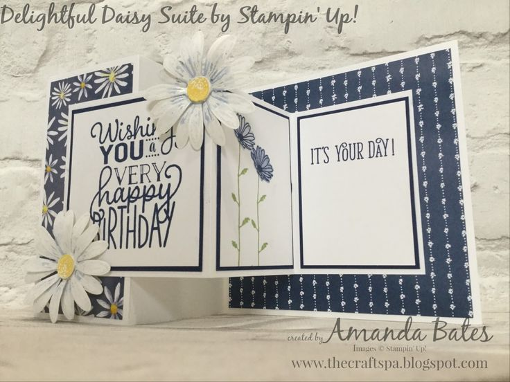 Delightful Daisy Delight Double Z Joy Fold Card by Amanda Bates at The Craft Spa in the UK. Independent Stampin Up UK Demonstrator, Blogger and Tutorial Publisher with Online Shop 24/7