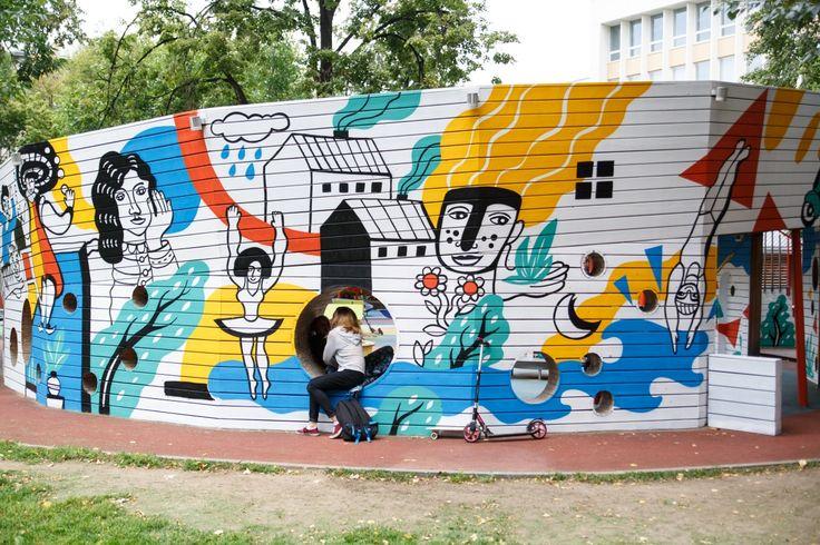 Оформление детской игровой площадки — Allover Graphics — Современное граффити оформление. Первое граффити-агентство в РФ