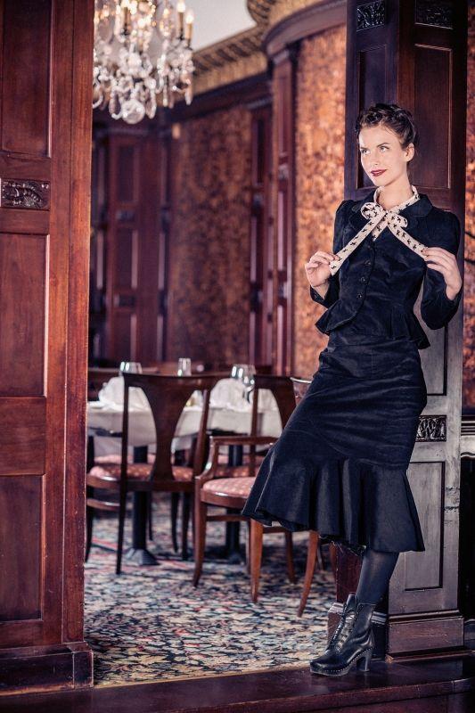 The new look jacket zwart   Jassen   Misspoppywear, retro boetiek
