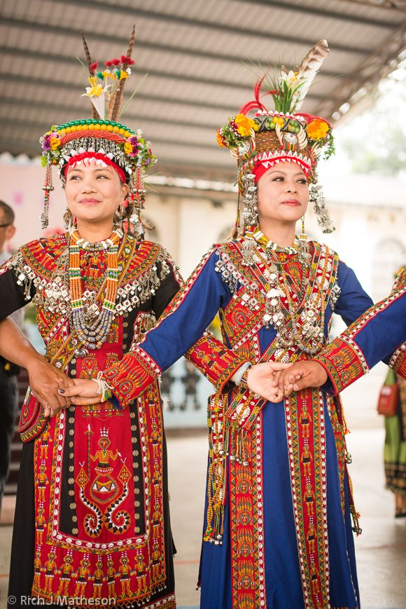 Taiwan | Rukai Bride and her Bridesmaid dance at wedding ceremony, Pingtung  | ©Rich J Matheson