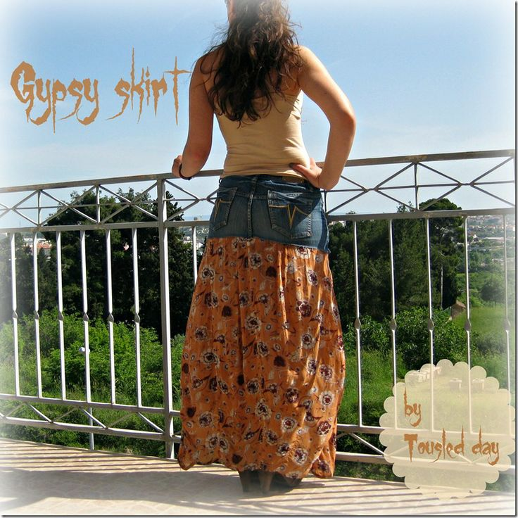 tousled day: Refashion - Gypsy skirt