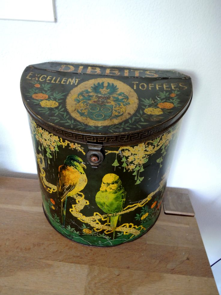 Dibbits toffees, antique tin 1920's