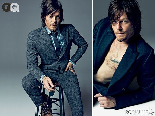Norman Reedus Rocks A Wool Suit Like No One Else Can For GQ