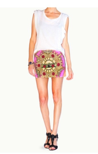 Guns N' Roses Mini Skirt
