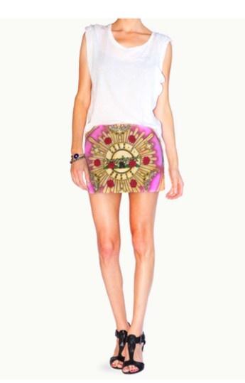 Guns N' Roses Mini Skirt