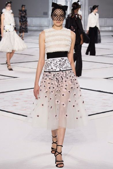 Giambattista Valli - Haute Couture Spring Summer 2015 -  The veal, sheer materials and floral print