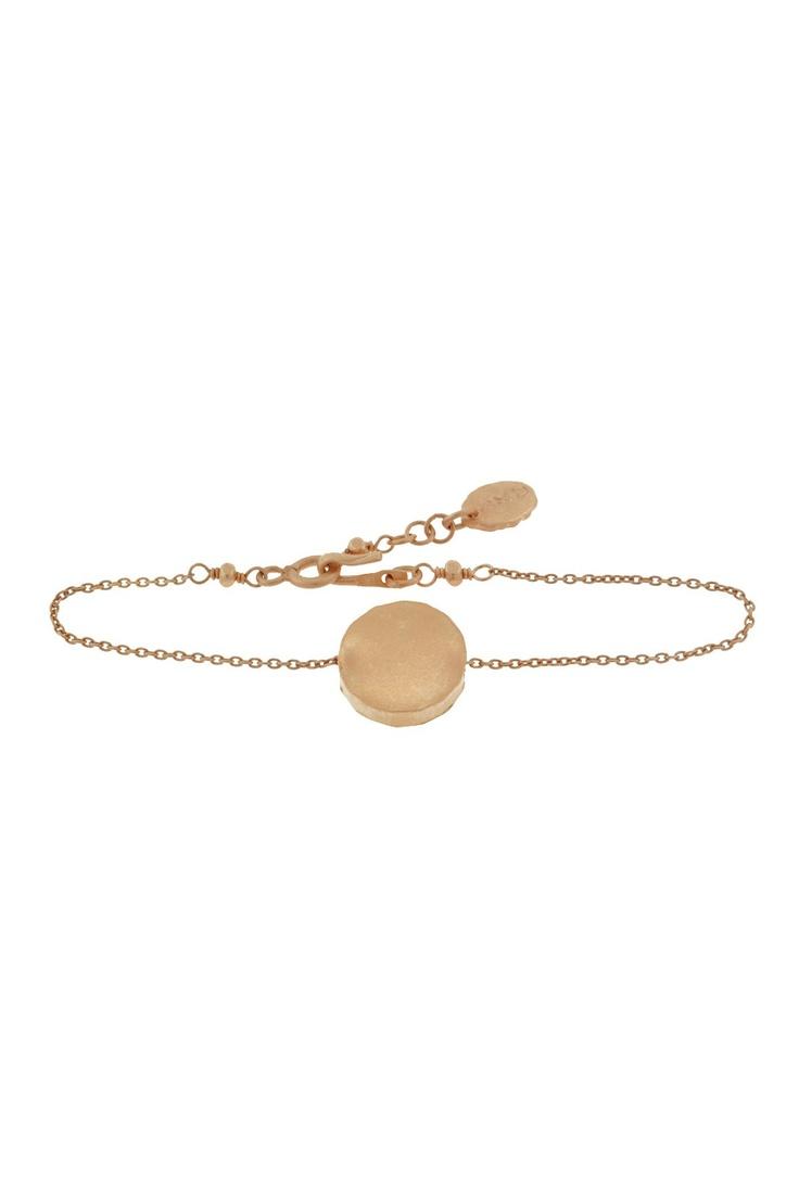 Rose Gold Mania  Floating Disc Bracelet