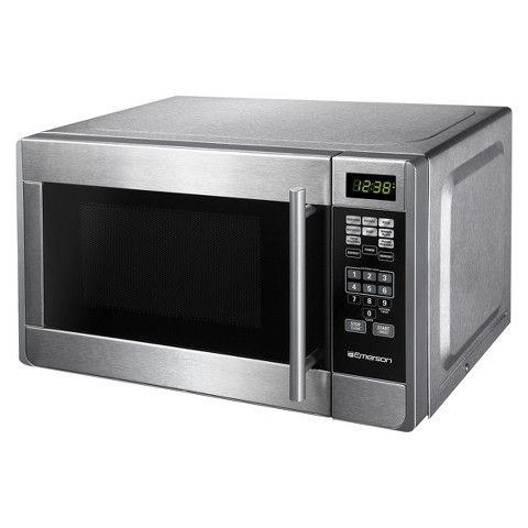 Emerson .7 Cu. Ft. Stainless Steel Urban Microwave Oven $70