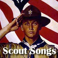 A collection of campfire songs and patriotic songs for boy scounts and girl scouts meetings, ceremonies, and camping trips.