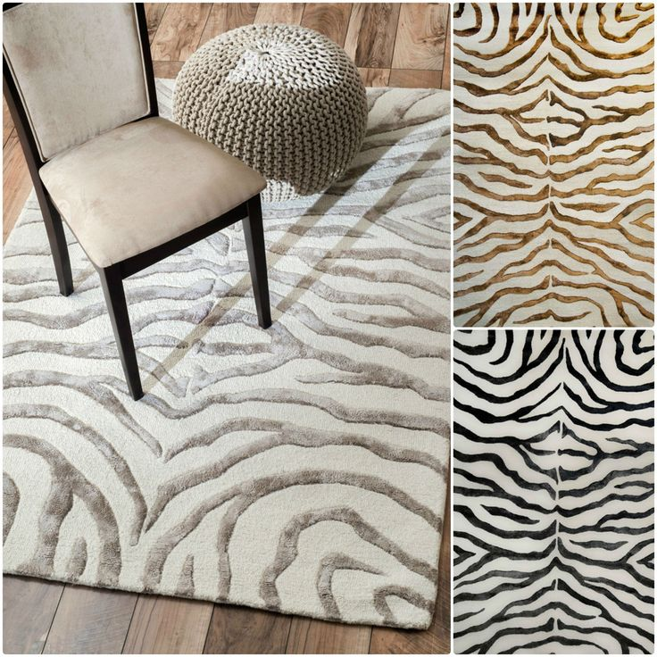 The Zebra Rug Will Add A Stylish Touch To Your Exotic Home Decor. The  Viscose