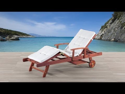 Gartenliege inkl. Auflage, beige - Liegestuhl - Sonnenliege - TOSCANA