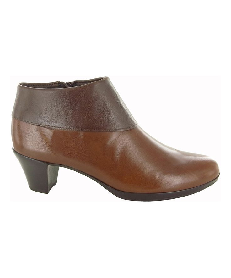 This Munro Shoes Brown Grace Leather Bootie by Munro Shoes is perfect! #zulilyfinds