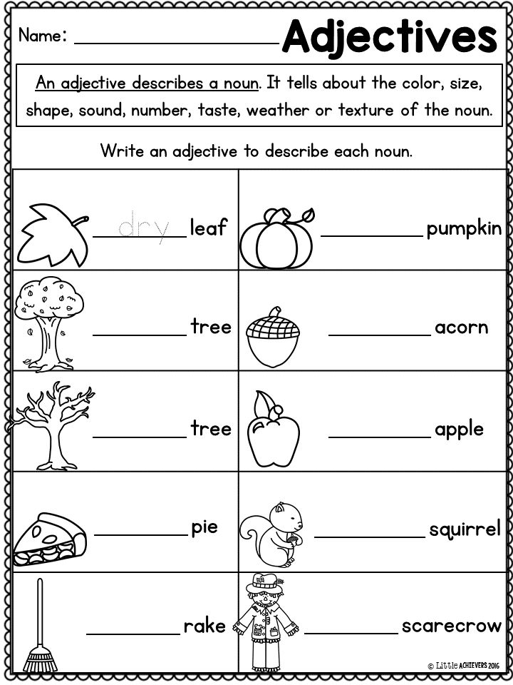 First Grade Math Worksheets and Literacy Worksheets Fall