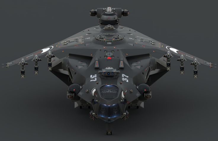ArtStation - Heavy Fighter for Space Force, Oshanin Dmitriy