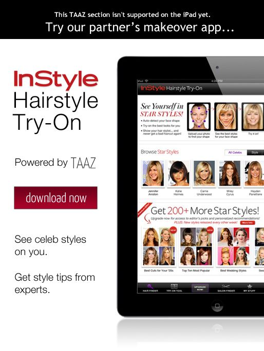 this is such a cool site - up load a photo of your self or use a model to try different hairstyle and makeup.  How spectacular is that?!