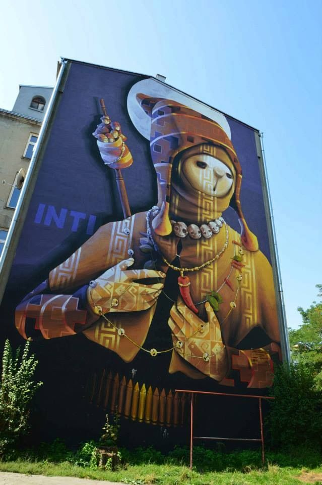by INTI - New mural - Lodz, Poland - Sept 2014