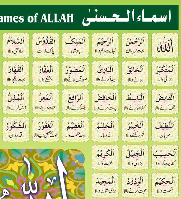 99 names of Allah in Urdu translation Pdf