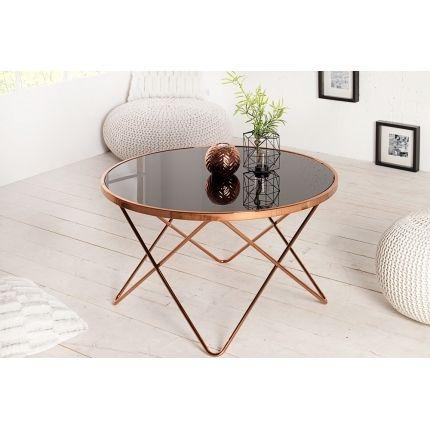 Konferenční stolek NICE 85cm černá/měď