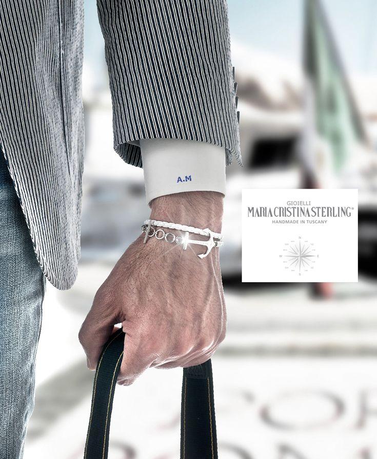 Maria Cristina Sterling gioielli Moda argento bracciali Ancora handmade in Tuscany Italy