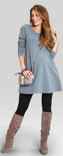 Belly warm jersey maternity tunic